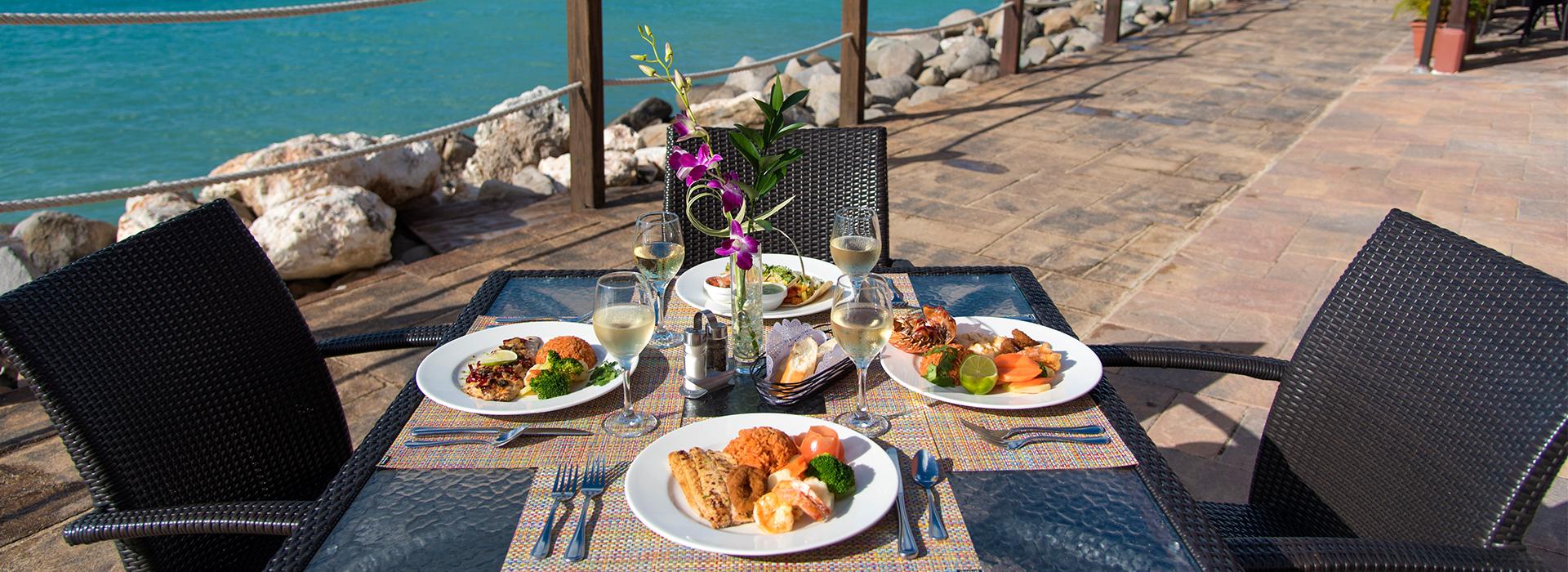 restaurantes en la isla de st maarten