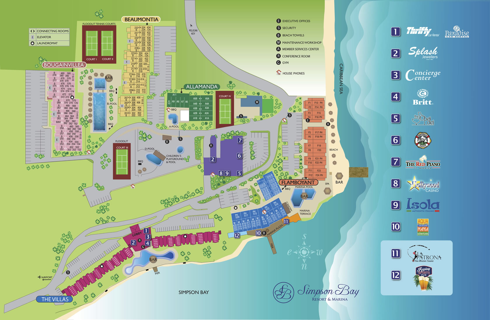 Simpson Bay Resort & Marina Floor Plan